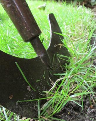 afsteken graszoden